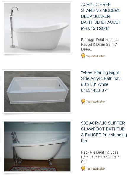 Old Bathtubs For Sale Arkansas Mena Cast Iron Vs Acrylic Tub New